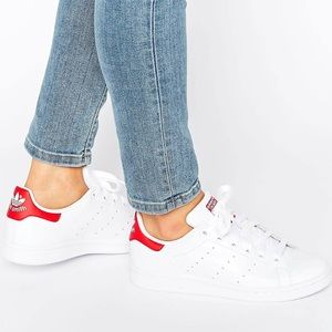adidas Shoes - Red Adidas Stan Smith Sneaker Shoes